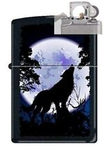 Zippo 0024 wolf howling at moon Lighter with PIPE INSERT PL