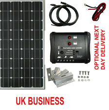 100W solar panel kit caravan motorhome brackets 12v 10A Dual charge controller