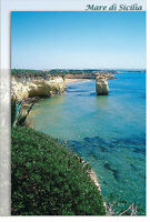 CARTOLINA SICILIA ISPICA CIRIGA SPIAGGIA MARE BEACH SEA SICILY POSTCARD