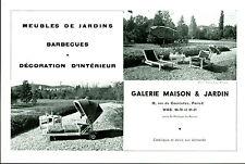 """Publicité Ancienne """" Meubles de Jardin  Paris  1957 """" ( P. 26 )"""