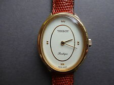 TISSOT BOUTIQUE MONTRE BRACELET CUIR MECANIQUE FEMME FILLE OVALE WOMAN WATCH