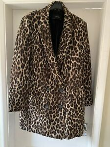 ZARA LEOPARD PRINT DOUBLE BREASTED JACKET SUPERB CONDITION SIZE XL