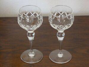 Two 2 Beautiful Stuart Crystal Carlingford Hock Wine Glasses