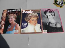 Lot of 3 Princess Diana Tribute Book & Mags People & Biograph Presents 1997 VG
