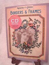 Borders & Frames Art work for scrapbooks & fabric transfer Bonus Cd