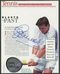 JIMMY CONNORS signed 8x10 magazine photo - Beckett (BAS) certified AUTOGRAPH