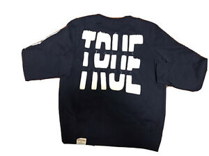 New True Religion Blue Navy Mens Sweater L LARGE