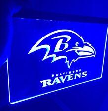 Nfl Baltimore Ravens logo Led Neon Light Sign for Game Room,Office,Bar,Man Cave
