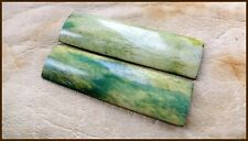 Real Camel Bone Knife Scales Green Dyed Knife Making Parts Supplies