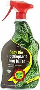 Baby Bio Houseplant Bug Killer 1L Fast Acting 2 Week Protection Kill Insect Fly