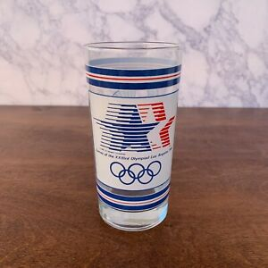 1984 Summer Olympics Los Angeles Cup VTG Glass Tumbler Cup USA Collectors
