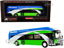"NEW FLYER XCELSIOR XN40 BUS W/BIKE RACK ""OMNITRANS"" 1/87 ICONIC REPLICAS 87-0235"
