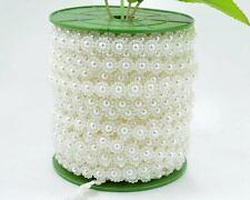 5Y 10mm Plastic Ivory Flower Pearl Bead String Chain Wedding invitation Trim