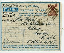 INDIA 1943 Airletter FMO Bombay old B-1 ! Royal Marine Censor No 77 to England