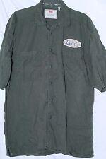 LEVI's Mens Khaki Army Green Button Down Military sz M Safari Shirt FreeSHIPPING