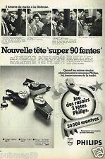 Publicité advertising 1972 Les Rasoirs electriques Philips