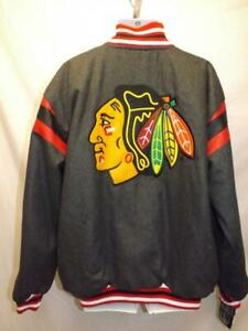 New Chicago Blackhawks MENS Sizes 2XL Reversible Button Snap Jacket $189
