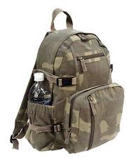 backpack woodland camo canvas mini vintage style adjustable straps rothco 9762