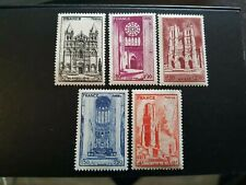 FRANCE TIMBRE N° 663 A 667 CATHÉDRALE NEUF ** LUXE MNH COTE 5.00€