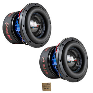 "2x American Bass 8"" HD Series 1600W Dual 2 Ohm Subwoofer HD-8-D2"