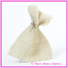 Hessian Bag Ivory - Approx 9.5 x 12 - Wedding Bomboniere / Favor Bag