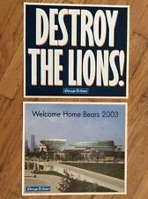 LOT OF 2, CHICAGO TRIBUNE, 2003, WELCOME HOME CHICAGO BEARS NEWSPAPER INSERTS