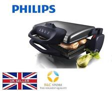 ~ Philips Electric Table Grill HD4467/90 steel 2000W ribbed plate 3 positions ~