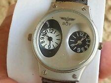 Boy london watch, Double  quwartz watch, model boy 21-w  , working good.
