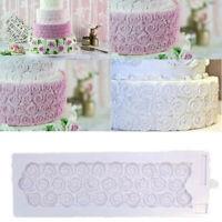 Rose Flower Silicone Mold Mat Cake Border Brim Decoration Fondant Baking Mould