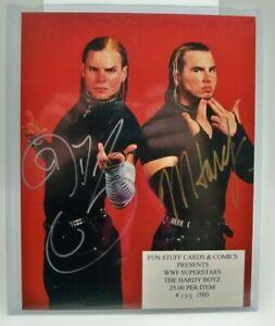 THE HARDY BOYZ MATT & JEFF * SIGNED 8x10 WWE WWF AUTOGRAPHED wrestling