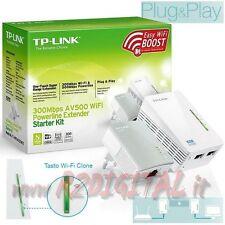 ADATTATORE TL-WPA4220KIT KIT 2 POWERLINE RETE LAN + WIFI ETHERNET RANGE EXTENDER