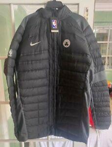 Men Nike Boston Celtics Team Aeroloft Jacket Black Silver 877825-010 Size 3XLT