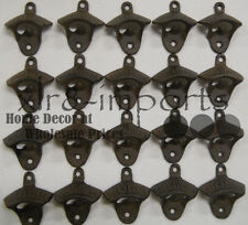 50 Rustic Cast Iron OPEN HERE Wall Mounted Beer Bottle Opener Soda FREE SHIPPING