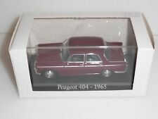 RBA COLLECTIBLES, PEUGEOT 404  in BURGUNDY 1965 . SCALE 1:43  NEW