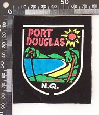 VINTAGE PORT DOUGLAS NORTH QUEENSLAND SOUVENIR PATCH FELT CLOTH SEW-ON BADGE