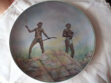 ROYAL DOULTON ABORIGINES ABORIGINAL HUNTING BOOMERANGS SPEARS CHINA PLATE