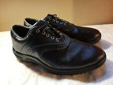Foot Joy Men's Golf Shoes Black Solid 8M Lace Up EUC