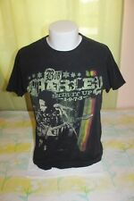 Bob Marley Stir it Up 1973 Zion Rootswear Men's Black T Shirt Size Large