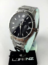 LORENZ Orologio Watch Uomo Classic Ginevra Acciaio NERO 026978 indici geometrici