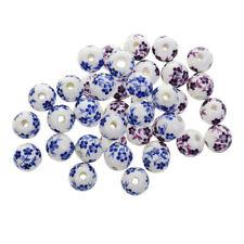 40pcs Pendentif Perles d'Espaces Porcelaine Elégant Accessoires pour Bijoux