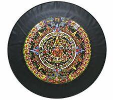 "15"" SPARE TIRE COVER AZTEC CALENDAR BLACK HEAVY DUTY VINYL TIRE COVER"