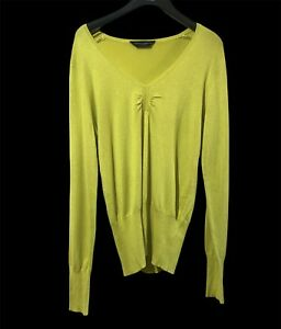 Dorothy Perkins Womens Yellow Jumper Pullover Size UK 12 Euro 40