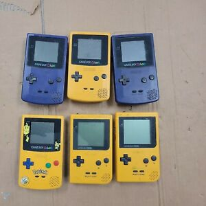 Job lot of 6 x Mixed GameBoy Color /Gameboy pocket. 100% Untested.