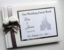 Disney Castle Personnalisé Mariage Livre d'or (Argent)