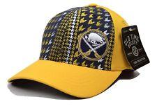 Buffalo Sabres Oth Nhl Canal Houndstooth Stretch Fit Team Logo Hockey Cap Hat