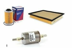 Service kit OIL AIR FUEL FILTERS ACDelco suitable for VZ COMMODORE V6 3.6 HOLDEN
