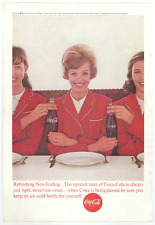 Coca Cola Coke Ad - Vintage 1963 Stewardess National Geographic Soda Promo Print