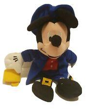 "Walt Disney Paul Revere Mickey Mouse Plush Blue Suit Stuffed Toy 11"""