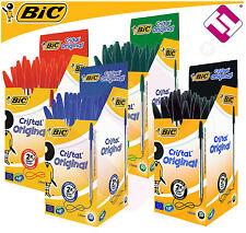 Lote 12 Boligrafos BIC cristal Negro/azul/rojo/verde (a tu Eleccion)