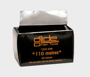 Glide Professional Silver Hairdressing Foil 20 Mic 110 or 320 Metre